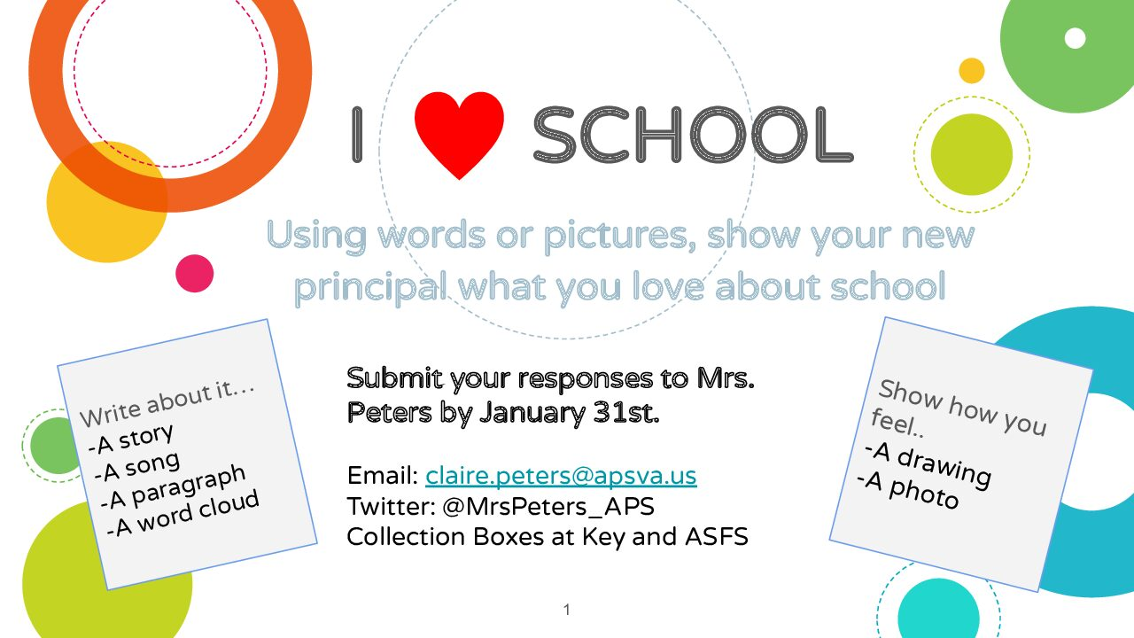 What do you love about school?